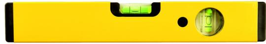 Wasserwaage  LAG 2-seitig bedruckt Gelb