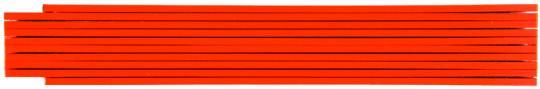 Zollstock farbig 2m, 2-seitig bedruckt Rot
