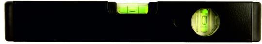 Wasserwaage  LAG 2-seitig bedruckt schwarz