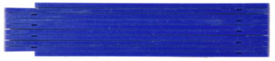 Kunststoffzollstock 1m Blau