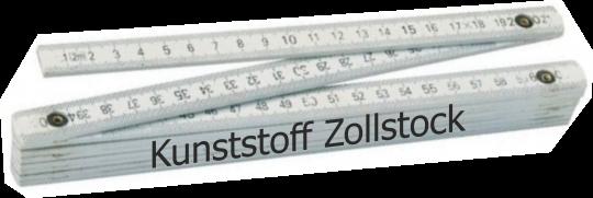 Zollstock Kunststoff  2m, 2-seitig bedruckt