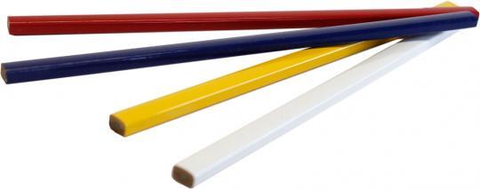 Zimmermannsbleistift 25cm, 1-seitig bedruckt Weiß