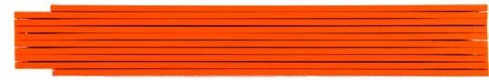 Zollstock farbig 2m, 1-seitig bedruckt orange